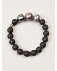 Samira 13   Black Multisize Pearl Bracelet   Lyst