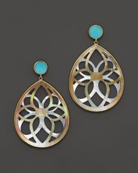 Ippolita - Blue 18K Gold Polished Rock Candy Carved Layers Isola Teardrop Earrings - Lyst