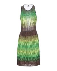 M Missoni | Black Variegated Knit Dress with Sheer Back Panel | Lyst