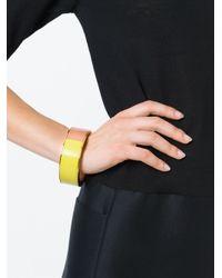 Erika Cavallini Semi Couture   Yellow Colour Block Bracelet   Lyst