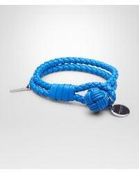 Bottega Veneta - Blue Intrecciato Bracelet - Lyst