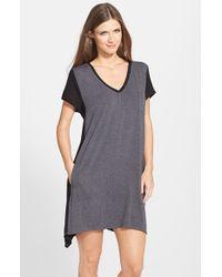 DKNY | Gray 'urban Essentials' Stretch Modal Sleep Shirt | Lyst