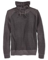American Rag | Gray Men's Mixed-media Funnel-neck Sweater for Men | Lyst