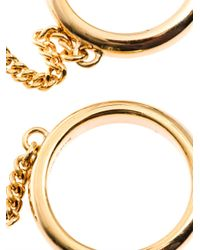 Chloé Metallic Carly Double-Chain Ring
