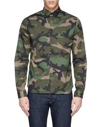 Valentino - Multicolor Camouflage Shirt for Men - Lyst