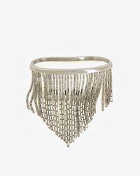 Fallon - Metallic Liquid Fringe Palm Cuff Silver - Lyst