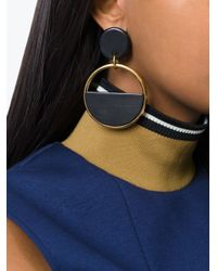 Marni | Black Half-circle Clip-on Earrings | Lyst