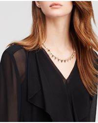 Ann Taylor | Metallic Spiked Crystal Necklace | Lyst
