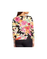 Pink Pony - Multicolor Lauren Plus Floral Print Sweater - Lyst