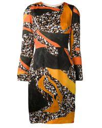 Acne Studios - Orange Mosaic Print Dress - Lyst