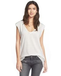 Pam & Gela | White V-neck Mantra Muscle Tee | Lyst