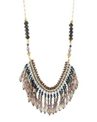 Nakamol | Multicolor Beaded Crystal Fringe Bib Necklace | Lyst