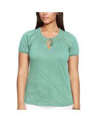Ralph Lauren | Green Embroidered Cotton Top | Lyst