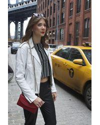 Lauren Cecchi New York | Sorella Lipstick Red Mini Cross Body Bag | Lyst