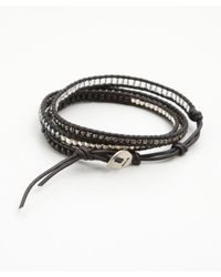 Chan Luu - Black Matte Onyx Triple Wrap Bracelet - Lyst