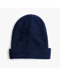 J.Crew | Blue Merino Wool Beanie | Lyst