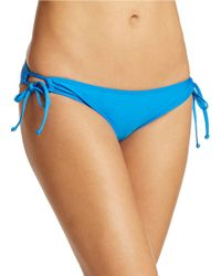 Splendid | Blue Side Tie Hipster Bikini Bottom | Lyst
