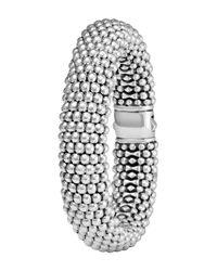 Lagos | Metallic Silver Caviar Oval Bracelet | Lyst