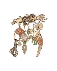 TOPSHOP | Metallic Freedom Found Collection Zoo Animals Brooch | Lyst