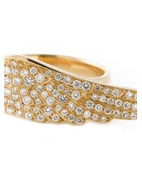 Garrard | Metallic 'wing' Diamond Ring | Lyst