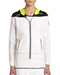 Monreal London | White Relaxed Hooded Zip-up Jacket | Lyst