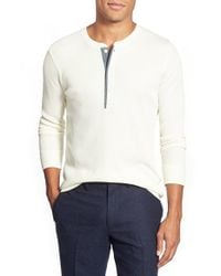 Bonobos | White Long Sleeve Waffle Knit Henley for Men | Lyst
