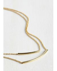 Ana Accessories Inc - Metallic Dainty Duo Necklace - Lyst