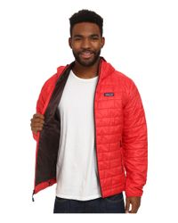 Patagonia - Red Nano Puff® Hoodie for Men - Lyst