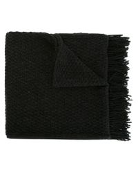 Golden Goose Deluxe Brand - Gray Fringed Knit Scarf - Lyst