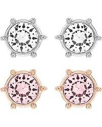 Swarovski | Pink Botanic Pierced Earrings Set | Lyst