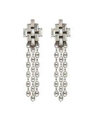 DANNIJO | Metallic Jett Earrings | Lyst