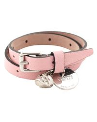 Alexander McQueen | Pink Skull Double Wrap Bracelet | Lyst