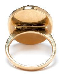 Andrea Fohrman | Metallic Gold Onyx And Rutliated Quartz Moon Ring | Lyst