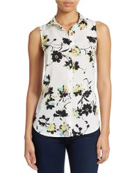 Jessica Simpson - White Francisca Button-Down Tank Top - Lyst