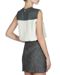 Balenciaga - White Sleeveless Comboyoke Top - Lyst
