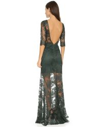 FEMME D'ARMES | Black Magali Lace Gown | Lyst
