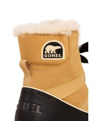 Sorel - Natural Women's Tivoli Ii Waterproof Suede Boots - Lyst