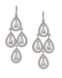 Carolee | Metallic Glass Stone Teardrop Chandelier | Lyst