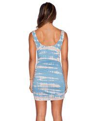 Gypsy 05 - Blue Bamboo Shirred Wrap Dress - Lyst