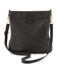 Tory Burch - Stackedt Leather Book Bag Black - Lyst