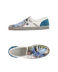 Hogan Rebel - White Low-tops & Trainers - Lyst