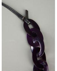 Monies | Purple Chain Link Necklace | Lyst