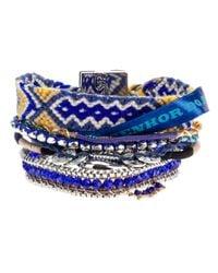 Hipanema | Blue Ethnic Bracelet | Lyst