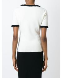 Moschino - Black Top With Contrasting Trim - Lyst