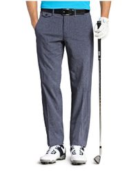 BOSS Green - Blue Regular-fit Golfing Trousers: 'hivos Pro' With Texture for Men - Lyst