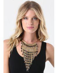 Bebe | Metallic Bead & Snake Chain Necklace | Lyst