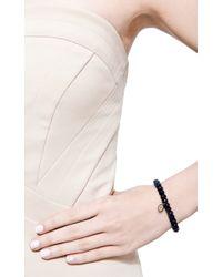 Sydney Evan - Blue Multi Colored Evil Eye Charm Beaded Bracelet - Lyst