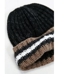Urban Outfitters - Black Sports Stripe Beanie for Men - Lyst