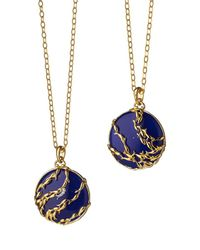 Monica Rich Kosann - Blue School Of Fish Charm Necklace - Lyst