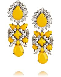 Shourouk - Yellow Blondie Crystal and Enamel Beaded Earrings - Lyst
